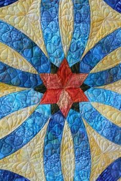 Detail, Diamond Wedding Ring quilt by Denise Green for Quiltworx.  Design by Judy Niemeyer