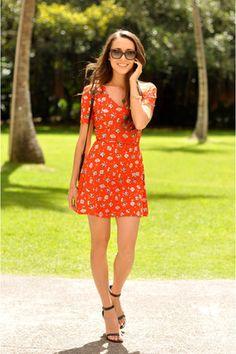 red Topshop dress