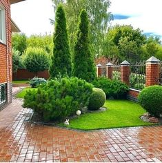 Pin on kert Pin on kert Front Garden Landscape, Small Front Yard Landscaping, Front Yard Design, Driveway Landscaping, Outdoor Landscaping, Lawn And Garden, Landscape Design, English Garden Design, Garden Solutions