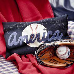 DIY Dreamy Baseball Applique Pillow