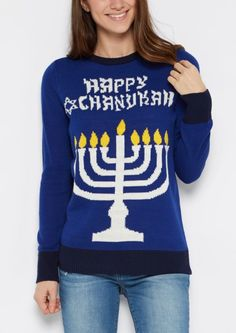 image of Happy Chanukah Light Up Sweater