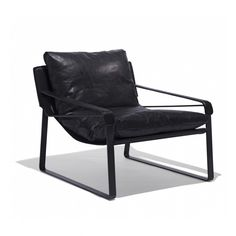Our Dunhill Chair is a sleek addition to our upholstery collection. This plush chair is meticulously crafted with full grain leather and a steel frame. The leather strap arms add a level of refined comfort. Available in black leather and cool gray leather Upholstery Repair, Upholstery Nails, Upholstery Cushions, Furniture Upholstery, Upholstery Cleaner, Living Room Upholstery, Grey Leather, Steel Frame, Plush