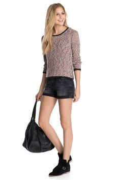 edc : Jersey de punto rizado + cremallera en la Online-Shop