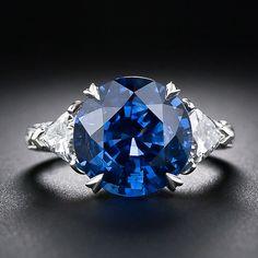 6.62 Carat Sapphire and Diamond Ring