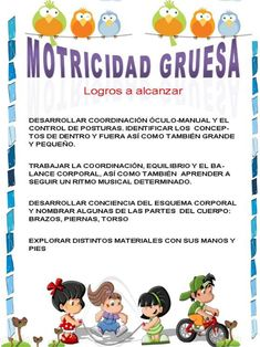 Motricidad gruesa en niños de 3 a 6 años … School Images, Gross Motor Activities, Behavior, Montessori, Teacher, Learning, Ideas, Kindergarten, Infants