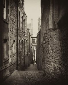 Street Close  Edinburgh Scotland  8x10 Silver Art by scottkrycia, $14.99
