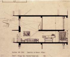 Casa ad alloggi duplex e insulae - Figini e Pollini - itinerari - Ordine degli architetti, P.P.C della provincia di Milano
