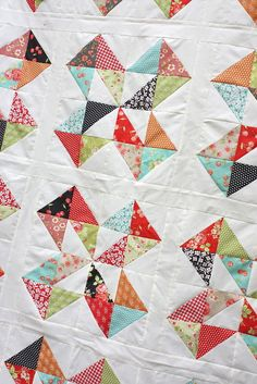 Star Cakes Quilt Tutorial from Fat Quarter Shop - Diary of a Quilter - a quilt blog