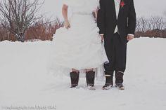 Maine Blizzard wedding.  Photo by Charity Clark #LLBean #BeanBoots