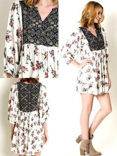 Umgee Dress Size XL S M L Black Checkered Tank Shift Free Boho People Womens New