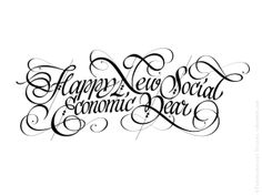 Happy New social-economic Year! by Evgeny Tkhorzhevsky, via Behance