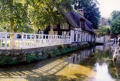 Veules les Roses Region Normandie, Saint Valery, Beaux Villages, France, Garden Bridge, Coins, Outdoor Structures, Explore, Travel