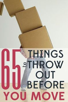 Planning a move? It's a perfect time to purge and make a fresh start. Here are 65 things you can toss without guilt! Planning a move? It's a perfect time to purge and make a fresh start. Here are 65 things you can toss without guilt! Moving House Tips, Moving Home, Moving Day, Budget Moving, Moving Planner, Moving Costs, Moving To Texas, Inmobiliaria Ideas, Organizing For A Move