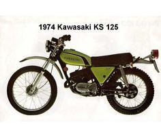 1974 Kawasaki KS 125  Motorcycle  Refrigerator / Tool Box Magnet