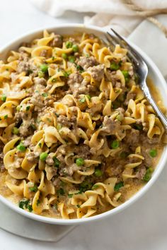 Cooking With Ground Beef, Ground Beef Recipes, Meat Recipes, Cooking Recipes, Best Easy Dinner Recipes, Ground Beef Stroganoff, Easy Pasta Dishes, Health Dinner, I Love Food