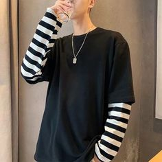 Grunge Outfits, Edgy Outfits, Fashion Outfits, Grunge Clothes, Aesthetic Clothes, Korean Fashion, Shirts, Grunge Boy, Clothing