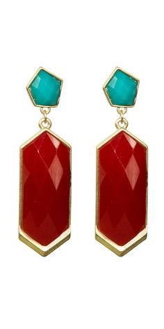 Meghan Shop: Pablo Earrings.  love these colors together.