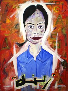 Zeina, 1995, Acrylic on canvas, 76 x 101cm (29.92 x 39.76 inch), Private collection. All images are used with the permission by the artist. Re-Pinning is permitted, however, please do not distribute, reproduce, reuse in any shape or form without first contacting the artist. marwan@art-factory.us © Marwan Chamaa.