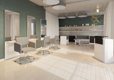Salon collection Lea by Ayala salon furniture. Hairdresser salon idea modern style. #Salonideas #Salondesign