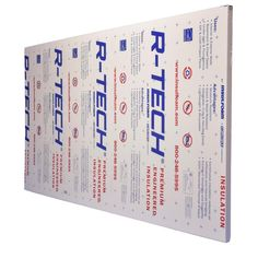 R Tech 2 In X 4 Ft X 8 Ft R 7 7 Rigid Foam Insulation 310891 The Home Depot In 2020 Foam Insulation Board Rigid Foam Insulation Garage Door Insulation