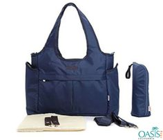 #Smart navy broad belt diaper bag