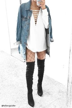 We've gathered our favorite ideas for Longline Denim Jacket Forever 21 The Latest Fashion, Explore our list of popular images of Longline Denim Jacket Forever 21 The Latest Fashion. Outfits Spring, Night Outfits, Winter Outfits, Casual Outfits, Cute Outfits, Fashion Outfits, Womens Fashion, Outfit Night, Vegas Outfits
