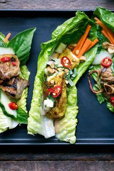 Chicken Satay Lettuce Wraps   HonestlyYUM (honestlyyum.com)