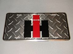 International Harverster License Plate