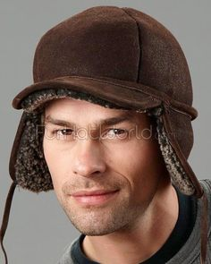 1c88893f2b2 Frosted Brown Shearling Sheepskin Fudd Hunting Hat