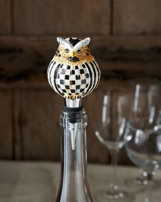 Owl+Bottle+Stopper+by+MacKenzie-Childs+at+Neiman+Marcus.