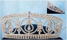 Duchess Royal Crown Tiara - Silver