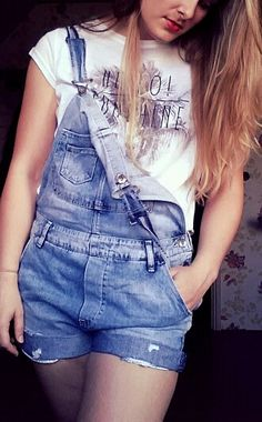 Short jeans overall.. great summer outfit