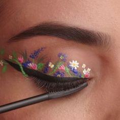 Flower Power!  Part 2 of the series of eyelid art I worked on!  This video is brought to you by @cosmopolitan and @maybelline ❤️ Featuring their new The Falsies Push Up Angel washable mascara.  Model: @nicollelobo  Hair by @cashlawlesshair ❤️ Makeup by me  Special thank you goes to @annalisagesterkamp for bringing me on board ❤️ Also,  thank you to @glowawaymeg for starting this awesome helix eyeliner trend. Thank you for the inspiration!  #maybelline #maybellinenewyork #ma...