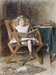 George Goodwin Kilburne The new book 1870.