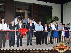 Велас Резортс поздравляет своего президента Эдуардо Вела Руиса, торжественно открывшего ресторан Велас 10, который расположен в городе Мадеро, штат Тамаулипас.   Желаем новому заведению большого успеха!