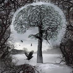 ...Para Pedro Nava    O que abre a noite é um silêncio abissal  esperanças novas de um corpo soturno  um canal de lembranças de um dia solar.  O que encerra um dia é uma certeza moral  de um corpo alquebrado, lavado de sol  esquecido na noite de um dia feliz.  O que encerra a vida é saber-se fadado;  ao dia, à noite, às certezas morais  que se escondem nas casas, nos quintais  [fechados  No baú-de-ossos de um homem qualquer.      Texto: Pedro Mota Pereira    Imagem: Igor Morski