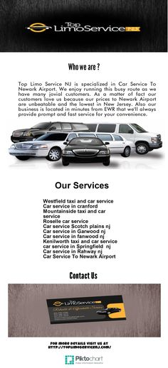 Top Limo Service NJ is specialized in Car Service To Newark Airport. We enjoy  running this busy route as we have many jovial customers. As a matter of fact our  customers love us because our prices to Newark Airport are unbeatable and the  lowest in New Jersey. Also our business is located in minutes from EWR that we'll  always provide prompt and fast service for your convenience.