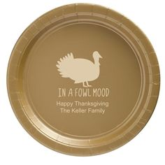 In A Fowl Mood Paper Plates