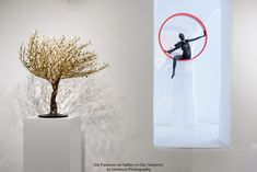 Windswept olive tree by Valaes. Black woman in circle by Helen Mudie Ioannidou. In Oia Treasures Art Gallery Olive Tree, Candle Sconces, Art Gallery, Wall Lights, Candles, Woman, Black, Home Decor, Art Museum