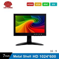 7 Inch HD CCTV TFT-LED Monitor with Metal Shell & HDMI VGA AV BNC Connector for PC & Multimedia & Donitor Display & Microscope #women, #men, #hats, #watches, #belts