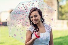 Wedding photo prop ideas - love heart umbrella
