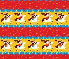 Carousel Party! fabric by bora on Spoonflower - custom fabric