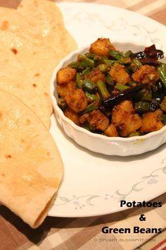 Aloo Beans Sabzi - Stir-fried Potatoes and Green Beans