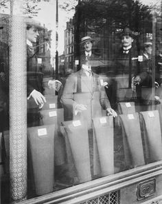 Eugène Atget: Avenue des Gobelins, 1925   The apparent subject of this picture is the art of commercial display in Paris in 1925. But the reflection in the window muddles the issue, for it obscures the clothing and seems to animate the mannequins and place them in the street. The picture's transparent lamination of real and artificial, outdoor and indoor, fluid and static, shimmer and substance, dissolves traditional boundaries between fact and imagination. The more complex unities it ...
