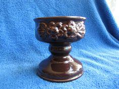 Sweden pottery Vintage Rosa Ljung Candelabra Candle Holder Ceramic Brown #RosaLjungDesign