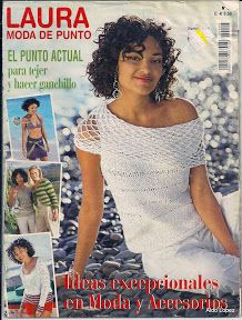 "Photo from album ""Laura moda"" on Yandex. Crochet Books, Thread Crochet, Knit Crochet, Loom Knitting, Knitting Patterns, Crochet Patterns, Knitting Magazine, Crochet Magazine, Bolero"