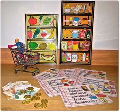 Materials: Role playing: Vamos a comprar Kids Activities At Home, Life Skills Activities, English Activities, Teaching Activities, Montessori Math, Preschool Curriculum, Montessori Materials, Kindergarten, Learning Through Play