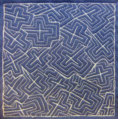 The Free Motion Quilting Project: Day 228 - Echo Crosses
