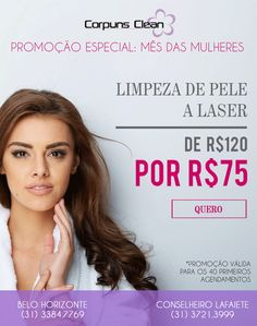 Limpeza de pele a laser - Promoção especial do Mês das mulheres