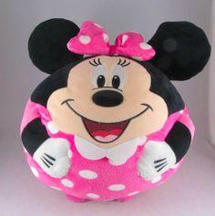 "2013 Ty Beanie Ballz Disney 13"" Plush Stuffed Pink Animal Large Ball Polka Dots | eBay"
